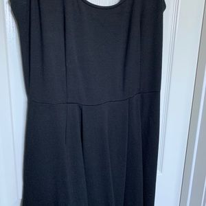 Black Midi Dress w/ pockets